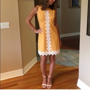 Orange Embroidered Lilly Pulitzer Dress